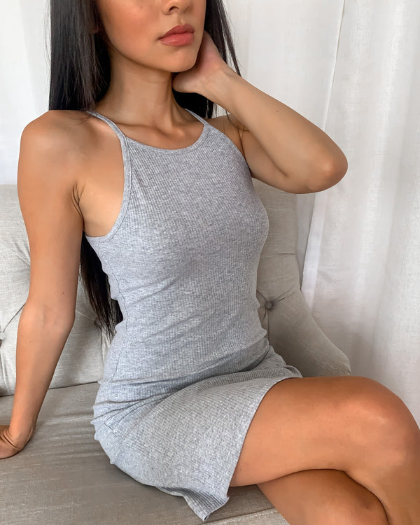 Carter High Neck Ribbed Dress