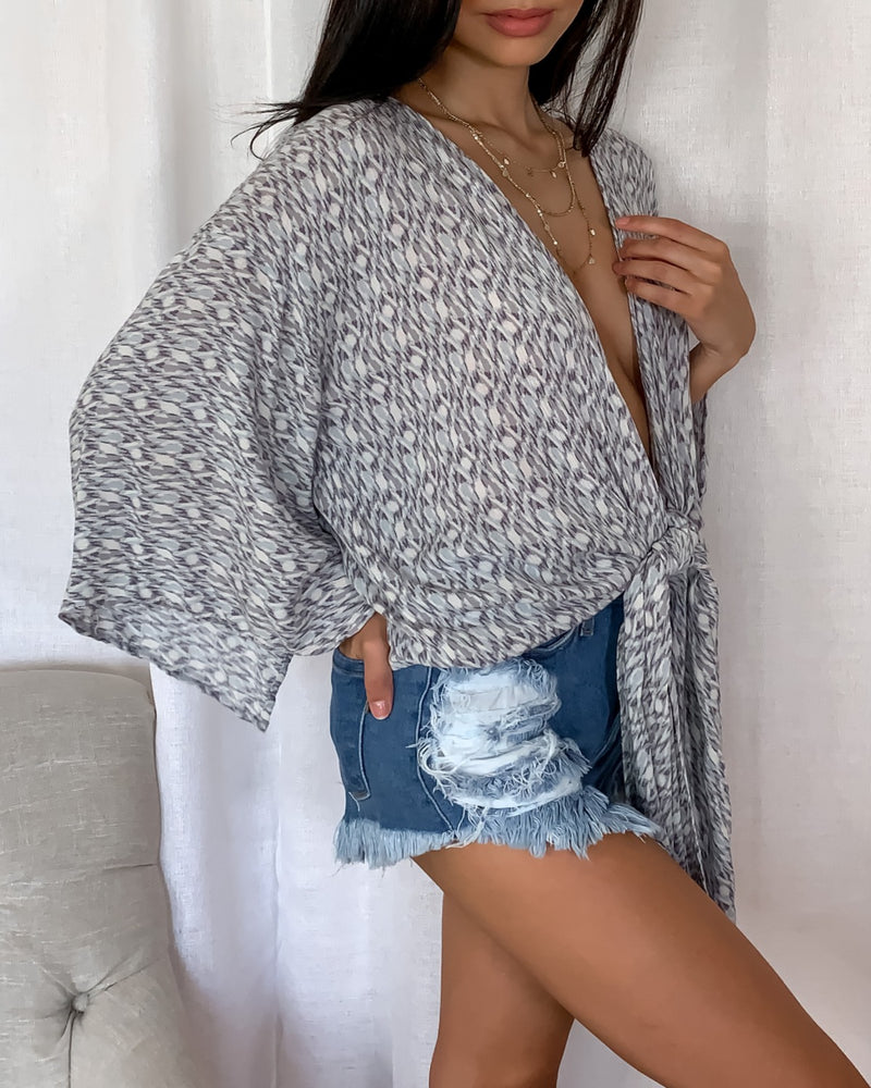 Aurora Patterned Wrap Top