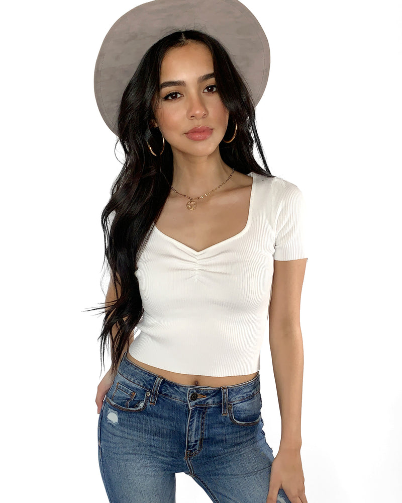 Eva Ribbed Crop Top