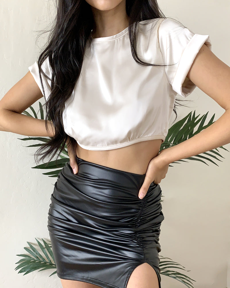 Primm Satin Crop Top