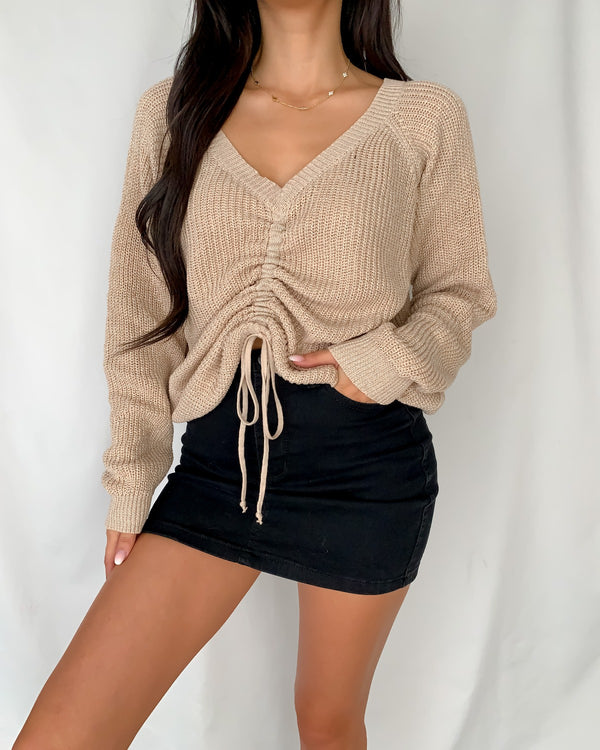 Helen Ruched Sweater