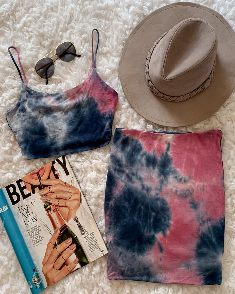 Rhonda Tie Dye Mini Skirt