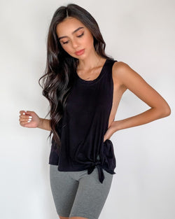 Roxy Knotted Muscle Tank