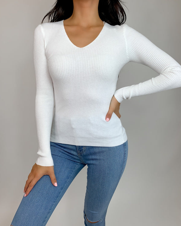 Ambur Ribbed Knit Long Sleeve