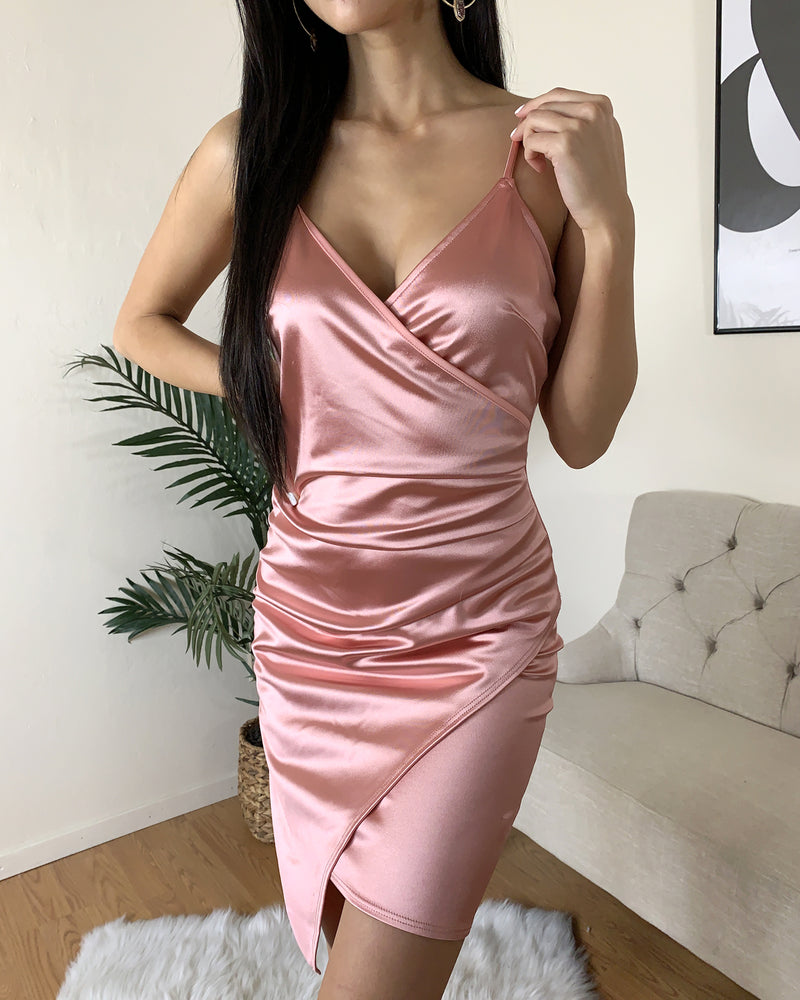 Crystal Satin Dress