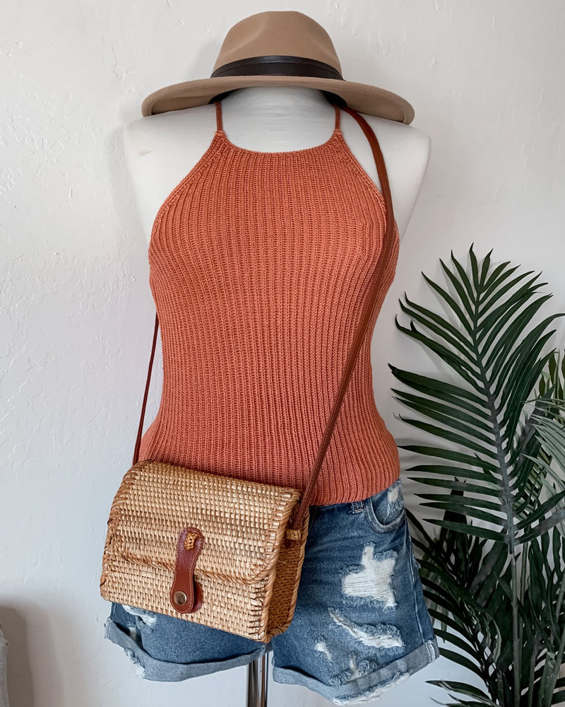 Connie High Neck Knit Tank