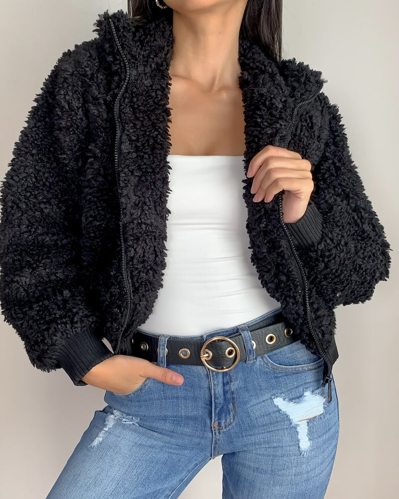 Becky Faux Fur Zip Up Jacket