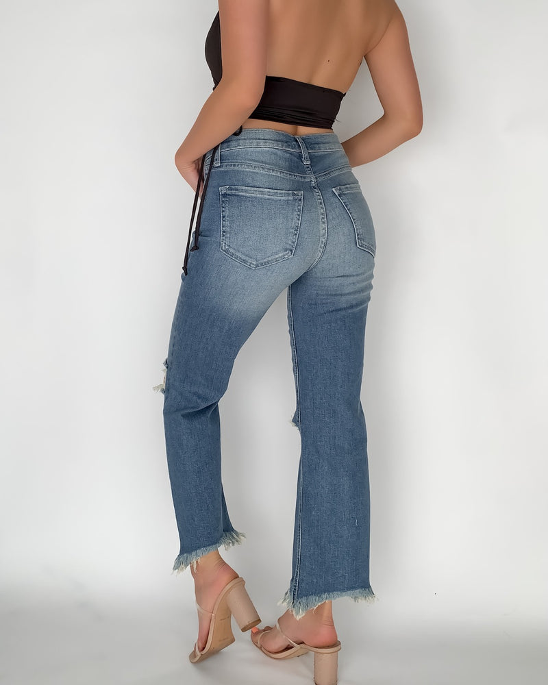 Sophie Ripped High Rise Jeans