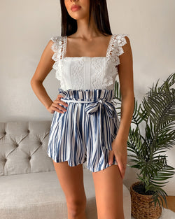 Bethany Striped Romper