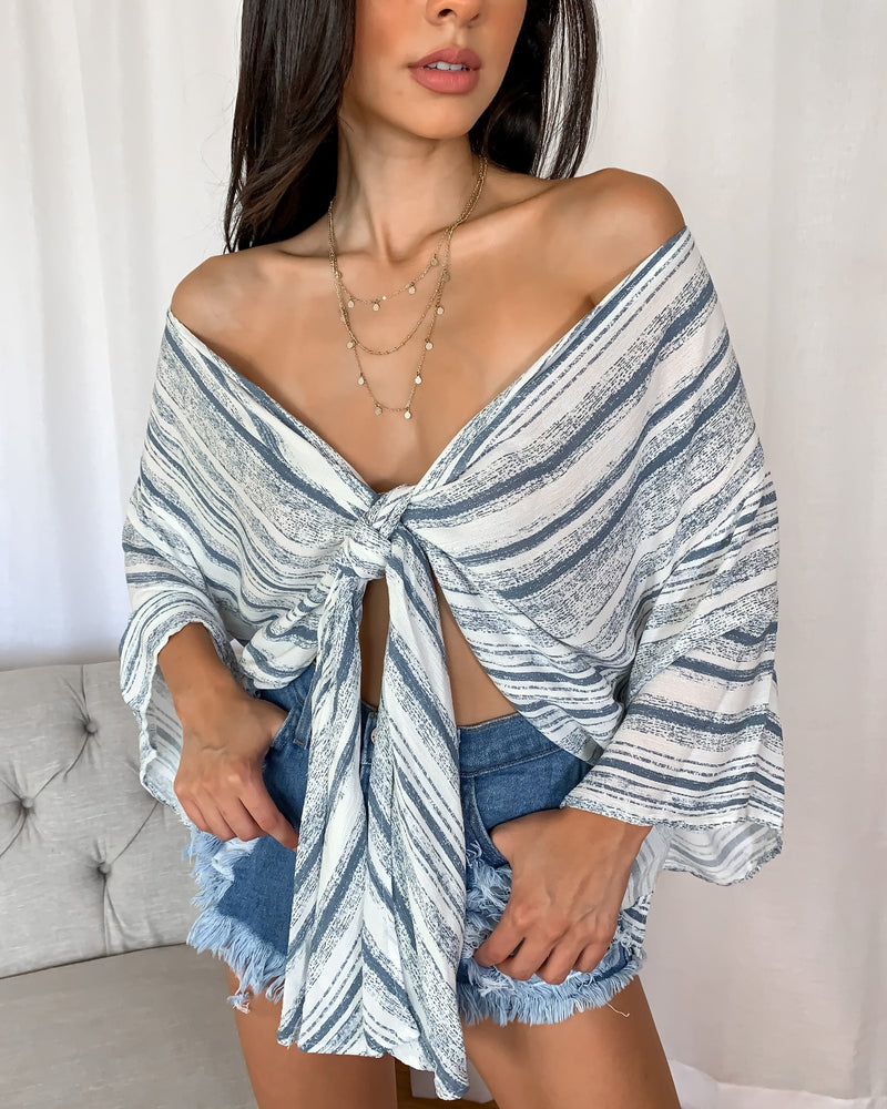 Mckay Patterned Wrap Top