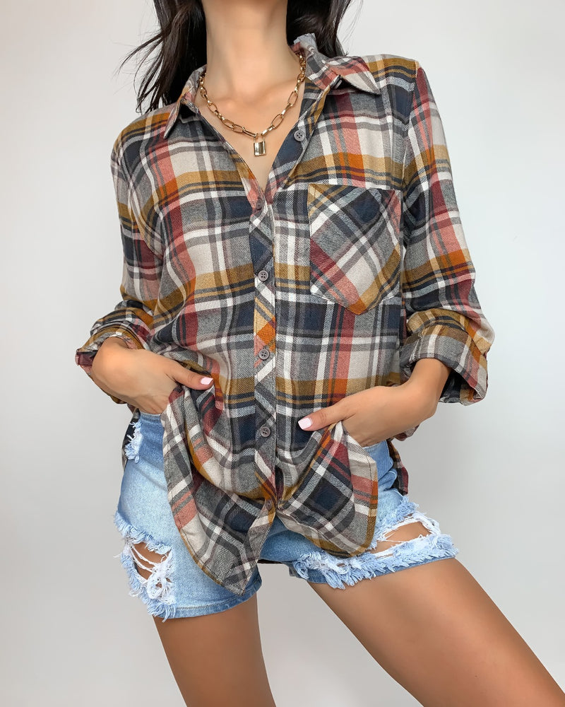 Rollins Button Down Top