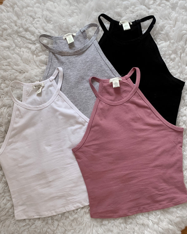Lynn High Neck Cropped Tank
