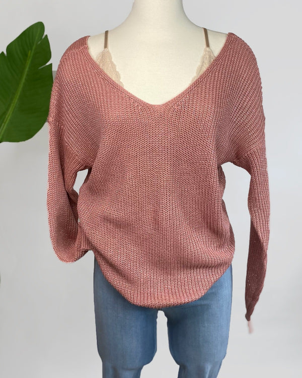 Amy Metalic Sweater