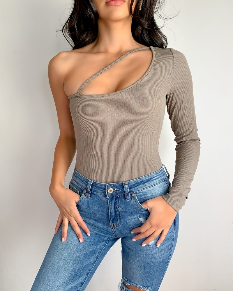 Emily One Shoulder Bodysuit
