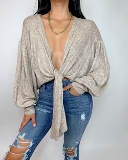 Mia Soft Knit Tie Cardigan