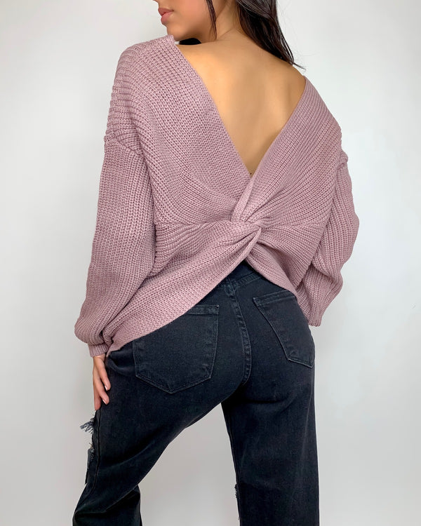 Missy Knotted Knit Sweater