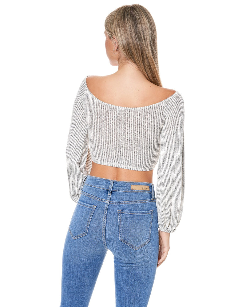 Kyala Off Shoulder Rib Top