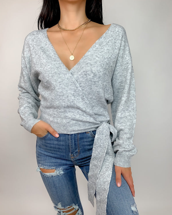 Merci Soft Knit Surplice Sweater