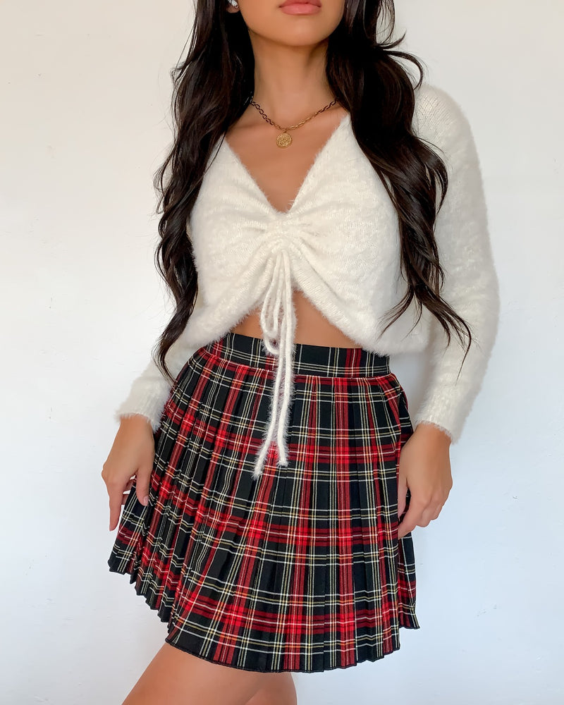 Maria Pleated Mini Skirt