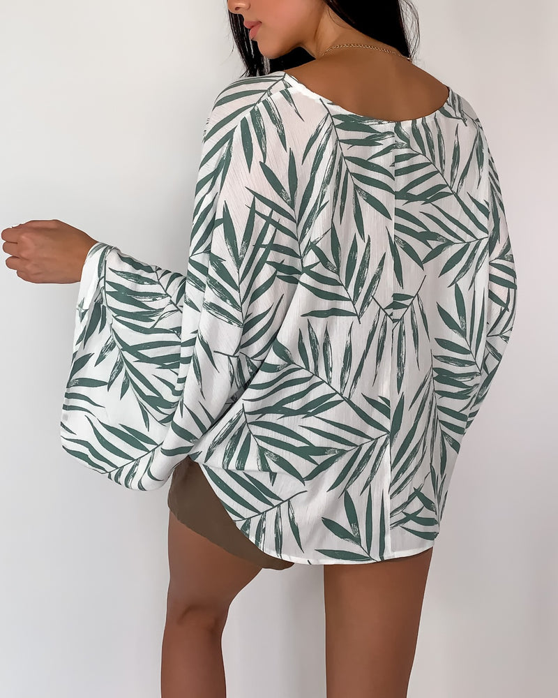 Palm Desert Wrap Top