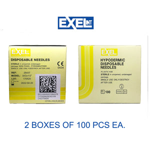 Exel Mesotherapy Hypodermic Needles 30g X 1/2″ 2 Boxes Of 100Pcs Ea.
