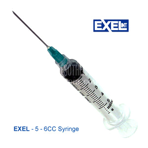 Syringe Exel 5 - 6cc Needle Combination Lock Tip