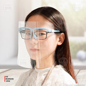2 Pcs of Multi-Funtional Full Face Cover Screen With Glasses Frame