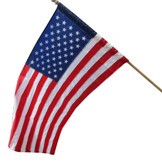 American Pole Hem Flag - Two Sizes (This one has a sleeve that slips on the flag pole)