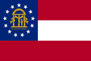 Georgia State Flag - Various Sizes - bbi Flags