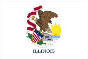 Illinois State Flag - Various Sizes - bbi Flags