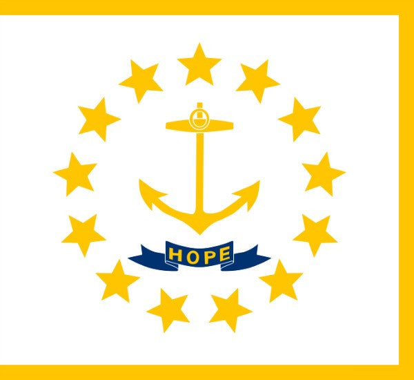 Rhode Island State Flag - Various Sizes - bbi Flags