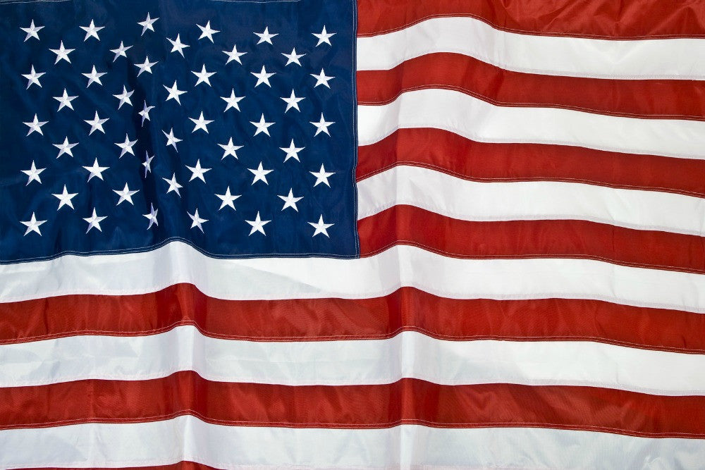 American Flag - 100% Polyester - Great For Lots of Wind - Available in 3 sizes