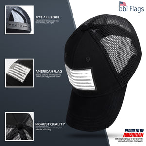 American Flag Hat - Black - bbi Flags