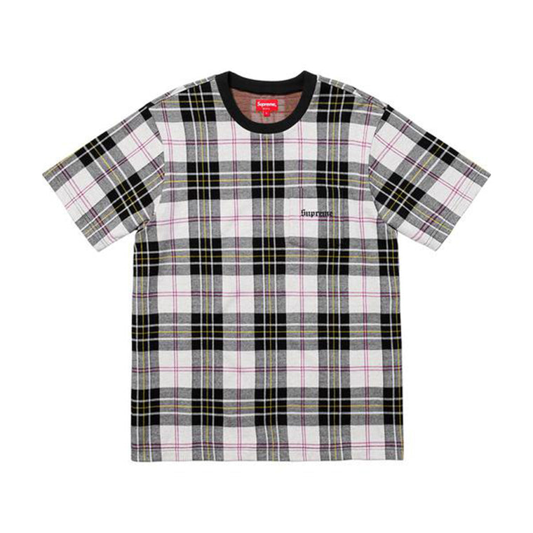 JACQUARD PLAID TEE
