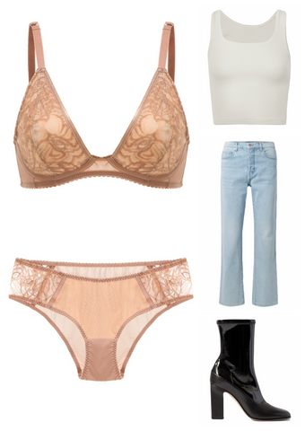 The Cristal Wireless Pocketed Triangle Bra | How to Style Lingerie