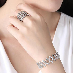 Magic Sterling Silver Folding Retractable Ring Bracelet