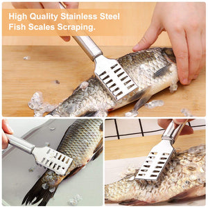 Fish Cleaning Scraping Scales Brush Graters Cleaner Scraper Tool