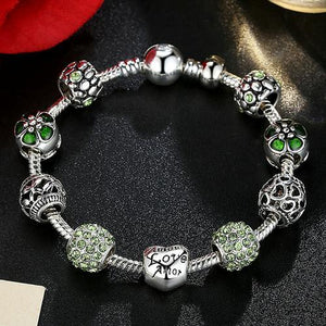 Antique Silver Charm Bracelet