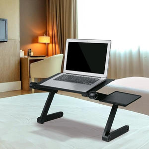 Adjustable Aluminum Laptop Desk(Mouse Pad Included)