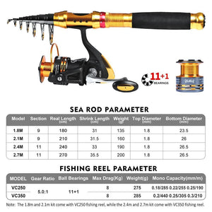 Fishing Rod And Reel Combo Kit