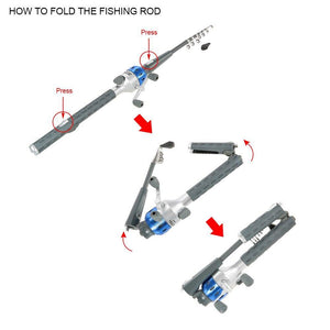 Telescopic Reel Combo Fishing Rod