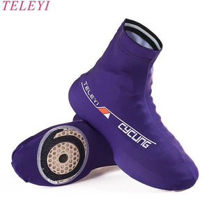 Hot TELETI White Black Cycling Shoe Cover Men Women Bike Shoe Cover windproof MTB Bicycle Zippered Overshoes Riding Quick dry