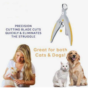 Cat and Dog Nail Clippers with LED Light - Pet Nail Clipper
