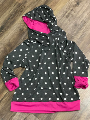 French Terry Polka Dot Hoodie