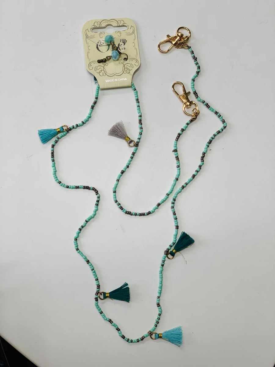 Turquoise & Tasle Mask Holder
