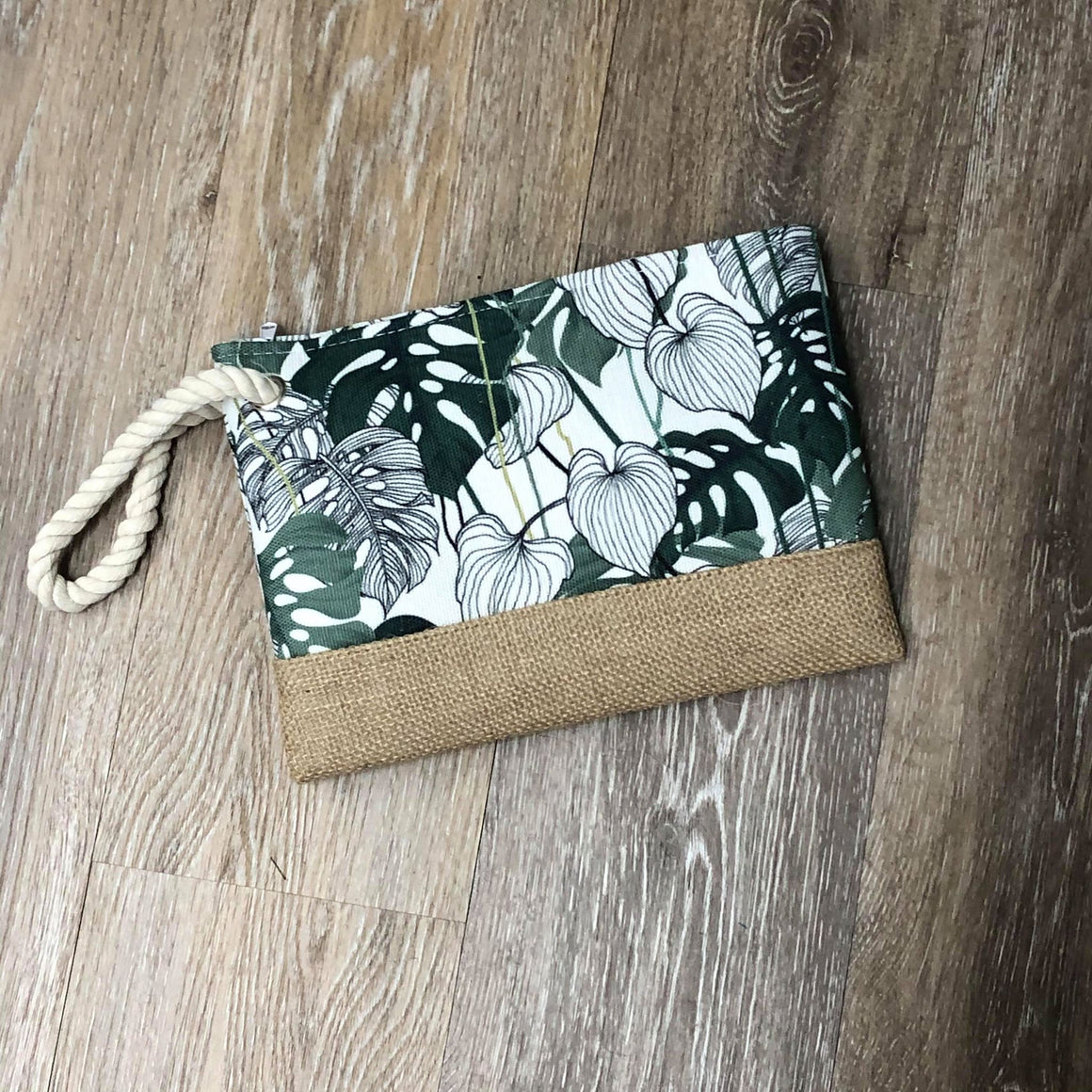 Palm Zip Clutch
