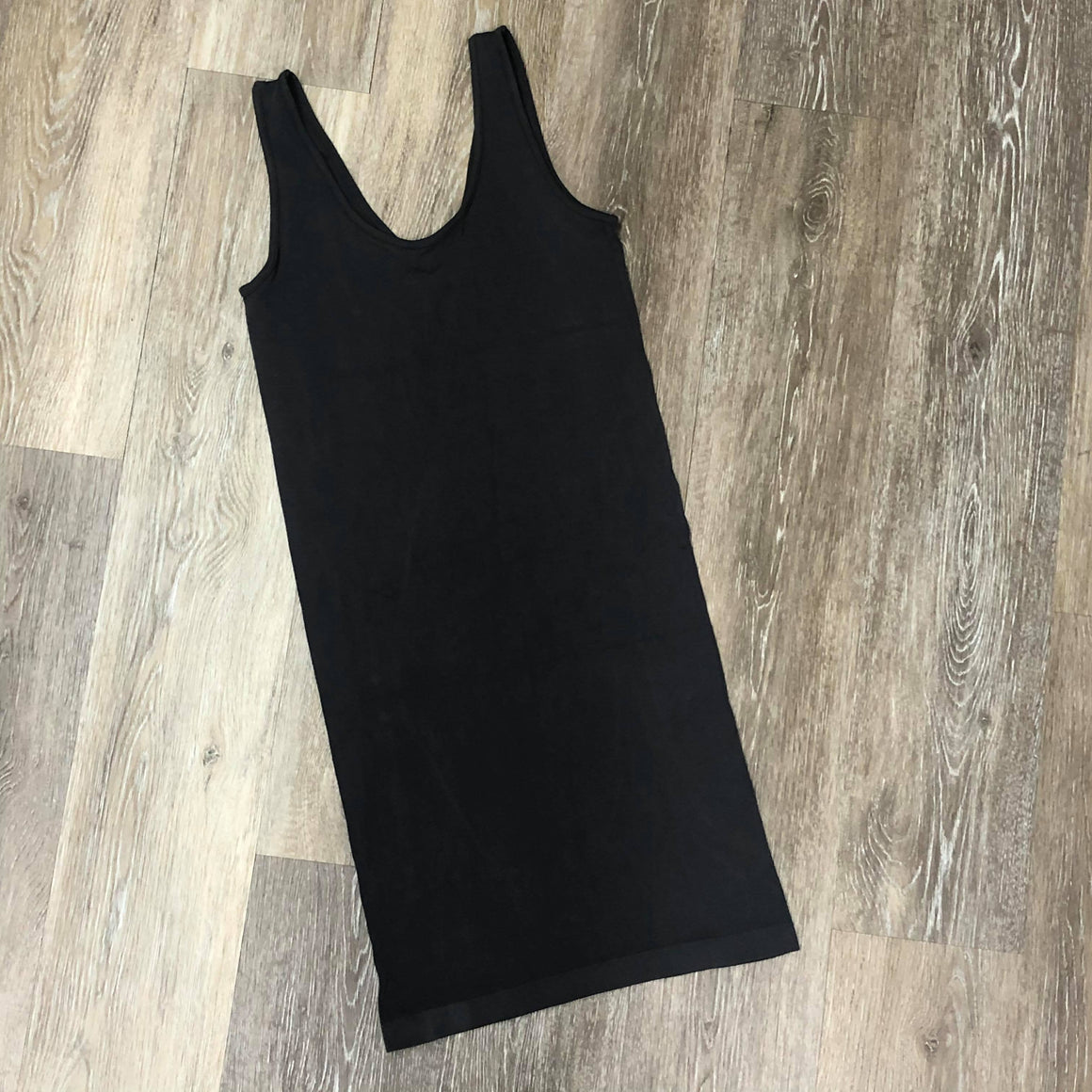Reversible Long Dark Gray Layering Tank