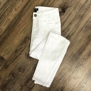 Vivette White Step Hem Denim