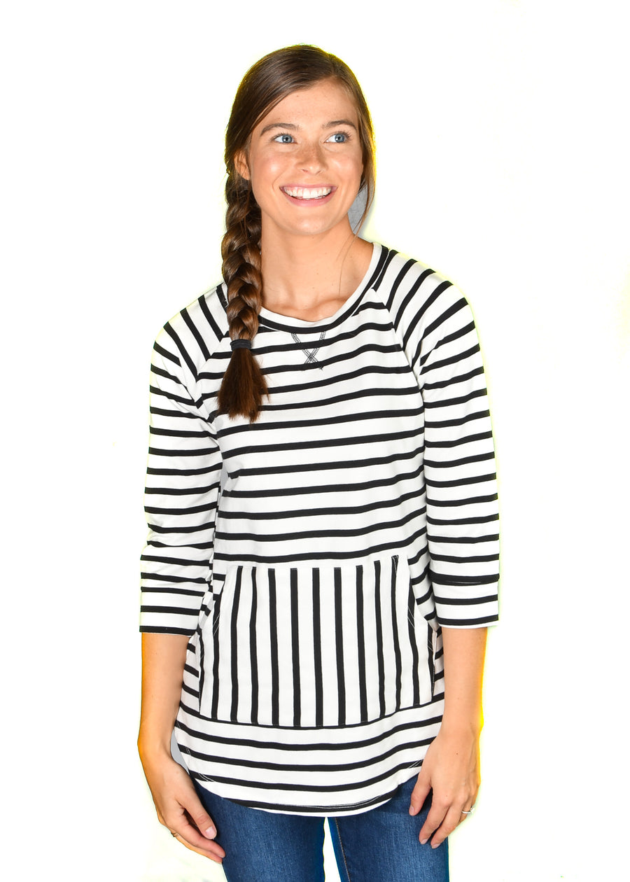 French Terry Stripe Sweatshirt - Warehouse Apparel
