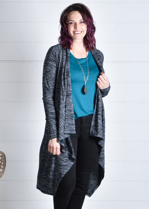 Black cardigan boutique style open cardigan